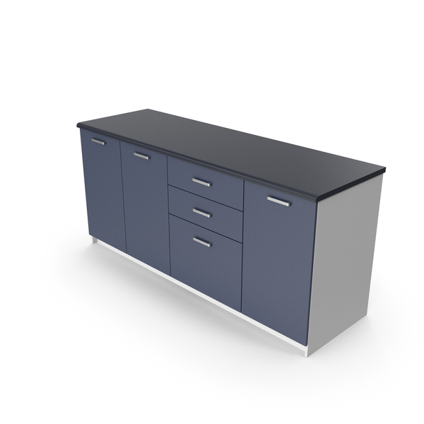 Kitchen Cabinets Blue PNG & PSD Images