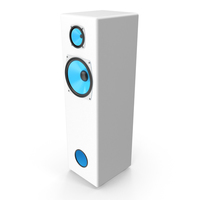 Vintage Blue Speaker Tower PNG & PSD Images