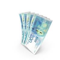 Handful of 200 Israeli Shekel Banknote Bills PNG & PSD Images