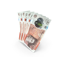 Handful of 10 UK Pound Banknote Bills PNG & PSD Images
