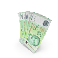 Handful of 5 Singapore Dollar Banknote Bills PNG & PSD Images