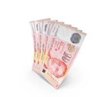Handful of 10 Singapore Dollar Banknote Bills PNG & PSD Images