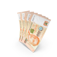 Handful of 100 Singapore Dollar Banknote Bills PNG & PSD Images