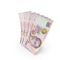 Handful of 1000 Singapore Dollar Banknote Bills PNG & PSD Images