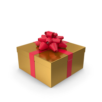 Gift Box Gold PNG & PSD Images