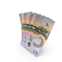 Handful of 5 Australian Dollar Banknote Bills PNG & PSD Images