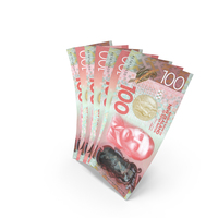 Handful of 100 New Zealand Dollar Banknote Bills PNG & PSD Images