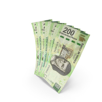 Handful of 200 Mexican Peso Banknote Bills PNG & PSD Images