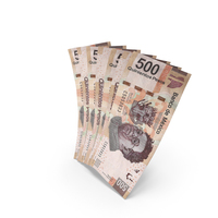 Handful of 500 Mexican Peso Banknote Bills PNG & PSD Images