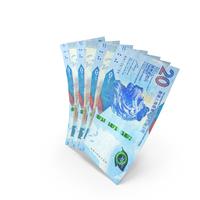 Handful of 20 Hong Kong Dollar Banknote Bills PNG & PSD Images