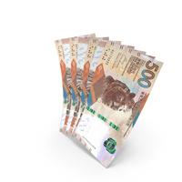 Handful of 500 Hong Kong Dollar Banknote Bills PNG & PSD Images