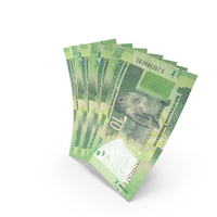 Handful of 10 South African Rand Bills PNG & PSD Images