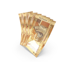 Handful of 20 South African Rand Bills PNG & PSD Images