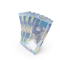 Handful of 100 South African Rand Bills PNG & PSD Images