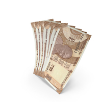 Handful of 10 Indian Rupee Banknote Bills PNG & PSD Images