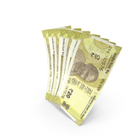 Handful of 20 Indian Rupee Banknote Bills PNG & PSD Images