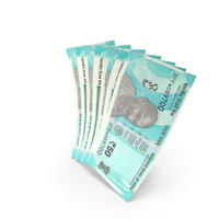 Handful of 50 Indian Rupee Banknote Bills PNG & PSD Images