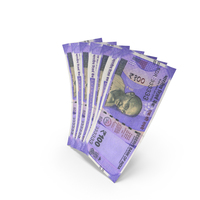 Handful of 100 Indian Rupee Banknote Bills PNG & PSD Images