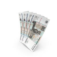 Handful of 50 Russian Ruble Banknote Bills PNG & PSD Images