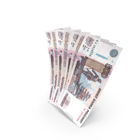 Handful of 500 Russian Ruble Banknote Bills PNG & PSD Images