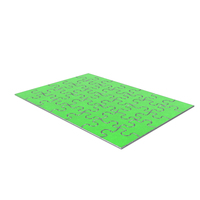 Jigsaw Puzzle 5x7 Metal Green Painted PNG & PSD Images
