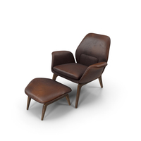Lounge Chair Oak Brown Worn PNG & PSD Images