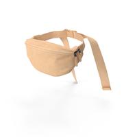 Waist Bag Leather Beige PNG & PSD Images