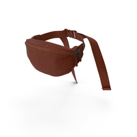 Waist Bag Leather Brown PNG & PSD Images