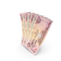 Handful of 5 United Arab Emirates Dirham Banknote Bills PNG & PSD Images
