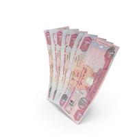 Handful of 100 United Arab Emirates Dirham Banknote Bills PNG & PSD Images