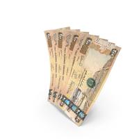 Handful of 200 United Arab Emirates Dirham Banknote Bills PNG & PSD Images