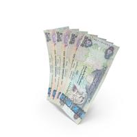 Handful of 500 United Arab Emirates Dirham Banknote Bills PNG & PSD Images