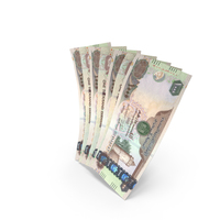 Handful of 1000 United Arab Emirates Dirham Banknote Bills PNG & PSD Images