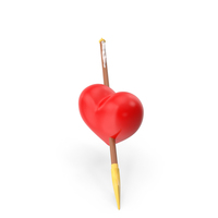 Heart Red Narrow PNG & PSD Images