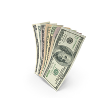 Handful of US Dollar Banknote Bills PNG & PSD Images