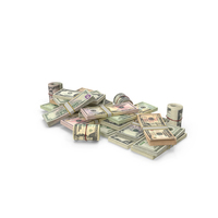 Pile of US Dollar Stacks PNG & PSD Images