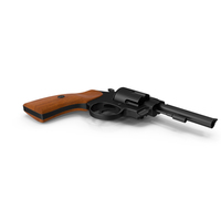 Revolver Black Wood PNG & PSD Images