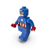 Lego Captain America Walk PNG & PSD Images