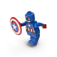 Lego Captain America Pose PNG & PSD Images