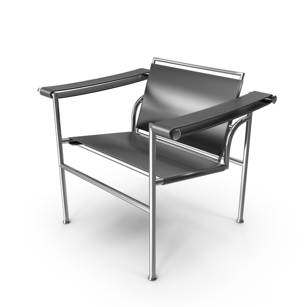 Le Corbusier LC1 Black Chair PNG & PSD Images