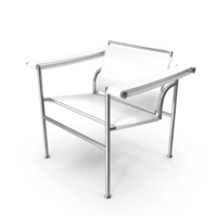 Le Corbusier LC1 White Chair PNG & PSD Images