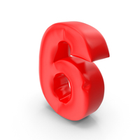 Balloon Number 6 PNG & PSD Images