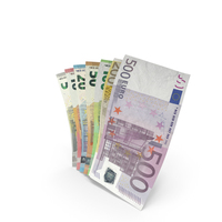 Handful of Euro Banknote Bills PNG & PSD Images