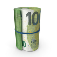 100 Euro Roll PNG & PSD Images