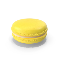 French Macaroon Yellow PNG & PSD Images