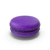French Macaroon Blueberry PNG & PSD Images