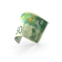 50 Israeli Shekel Banknote Bill PNG & PSD Images