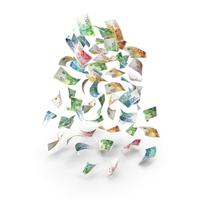 Rain of falling Israeli Shekel Banknote bills PNG & PSD Images