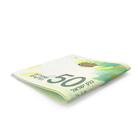 Small Folded Stack of 50 Israeli Shekel Banknote Bills PNG & PSD Images