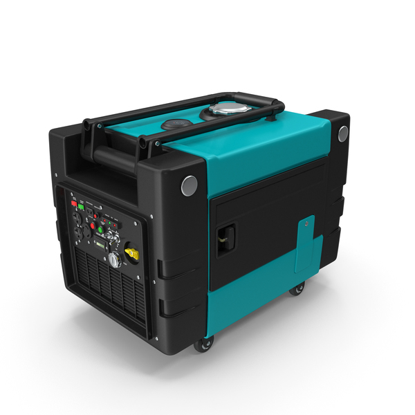 Portable Generator SkyBlue PNG & PSD Images